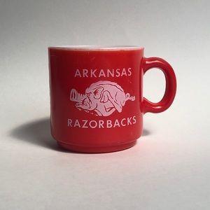 Vintage Arkansas Razorback Coffee Cup Mug Red